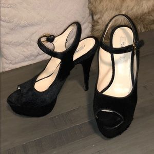 Prada fur heels size 38